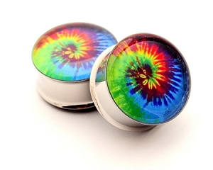 Tie Dye Picture Plugs