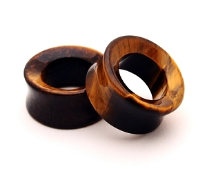 Tiger Eye Stone Concave Tunnels