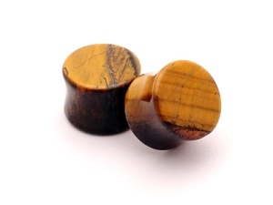 Tiger Eye Stone Plugs