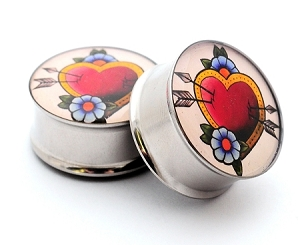 Traditional Heart Picture Plugs
