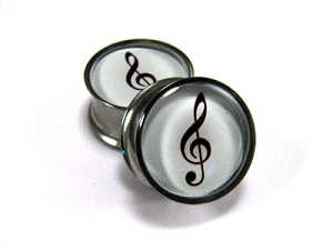 *CLOSEOUT* Treble Clef Picture Plugs