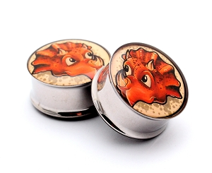 Triceratops Picture Plugs