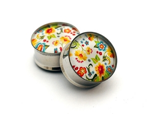 *CLOSEOUT* Vintage Floral Picture Plugs STYLE #2