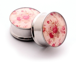 Vintage Floral Picture Plugs STYLE #3