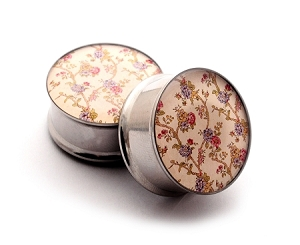 *CLOSEOUT* Vintage Floral Picture Plugs STYLE #4