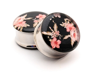 Vintage Floral Picture Plugs STYLE #5
