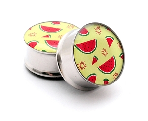 Watermelon Pattern Picture Plugs