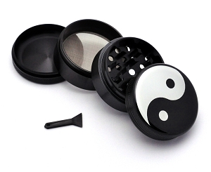 Aluminum Alloy 5-piece Yin Yang Picture Grinder