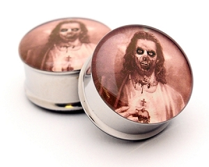 Zombie Jesus Style 2 Picture Plugs