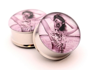 Zombie Pinup Style 3 Picture Plugs