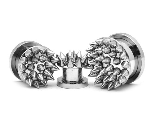 316L Stainless Steel Plugs with Spikes