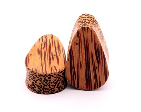 Coconut Wood Teardrop Plugs