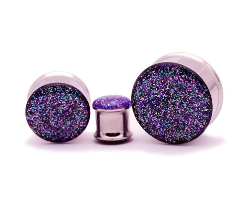 Embedded Galaxy Glitter Plugs