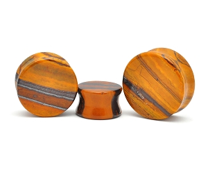 Sunset Jasper Double Flare Plugs