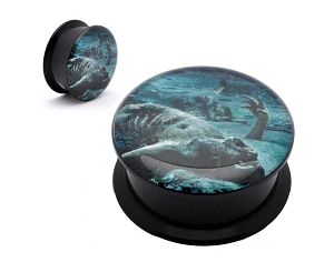 Black Acrylic Cattle Decapitation The Anthropocene Extinction Picture Plugs