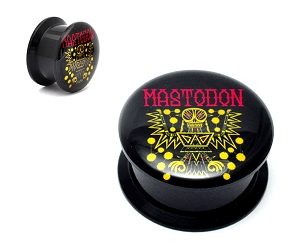 Black Acrylic Mastodon Tribal Demon Picture Plugs