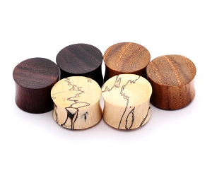 Set of 3 Pairs Wood Plugs  (Sono, Tamarind, Teak)
