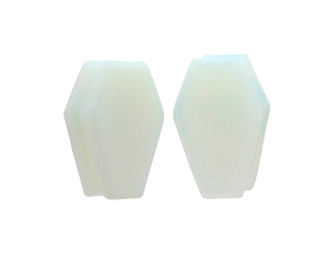Opalite Stone Coffin Shaped Double Flare Plugs
