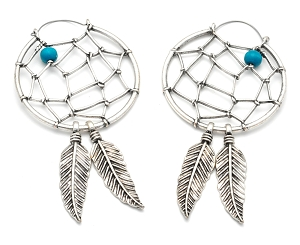 Hoop Earrings with Dream Catcher