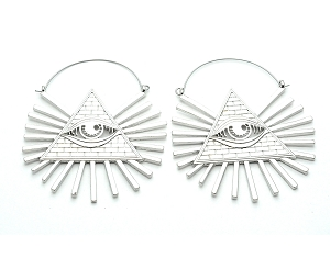 All Seeing Eye Hoop Earrings