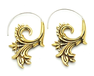 Handmade Brass Filigree Hoop Earrings