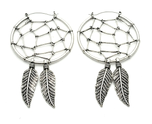 Dreamcatcher Hoop Earrings