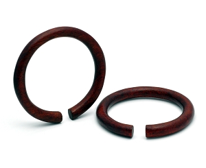 Large Diameter Areng Wood Round Rings