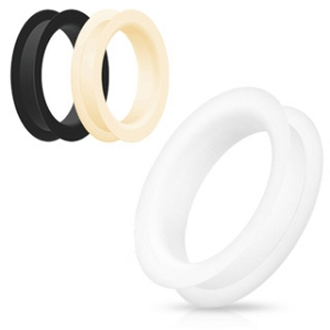 Large Gauge Standard Double Flared Silicone Tunnels