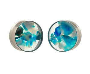 Resin Plugs with Dragon Vein Stone Pieces