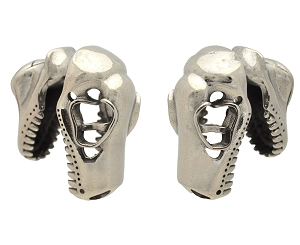 Pair of Steel T-Rex Skull Ear Weights
