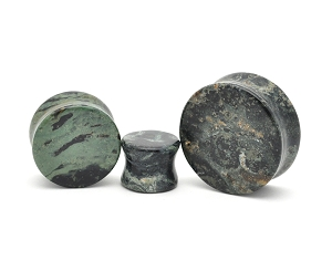 Green Eye Jasper Stone Double Flare Plugs