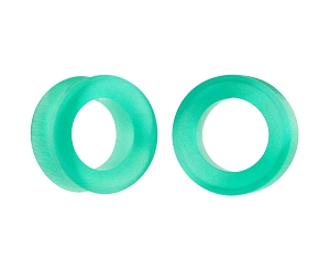 Light Green Cat Eye Stone Concave Tunnels