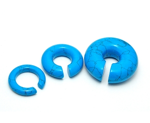 Turquoise Stone Hoop Ear Weights
