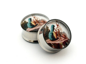 Alice in Wonderland Picture Plugs Style #4