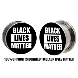 Black Lives Matter Steel Picture Plugs (Donation)