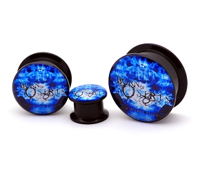 Black Acrylic Born of Osiris A Higher Place Picture Plugs