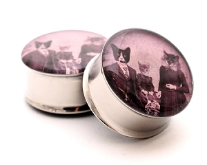 Cat Family Picnic Picture Plugs
