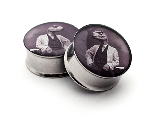 Dapper Raptor Picture Plugs