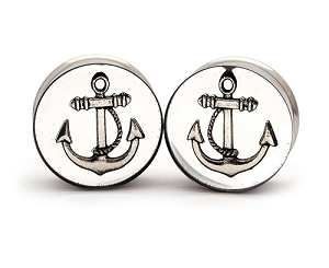 Embedded Silver Anchor Resin Plugs