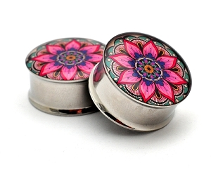 Flower Mandala Picture Plugs