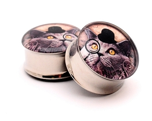 Gentleman Kitty Picture Plugs