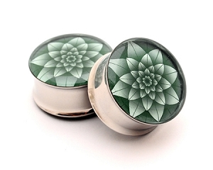 Green Lotus Picture Plugs