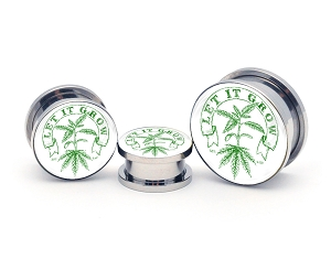 Let It Grow Steel Picture Plugs