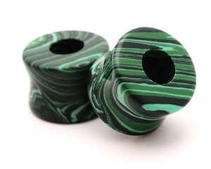 Synthetic Malachite Stone Tunnels