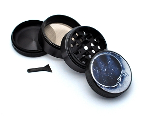 Aluminum Alloy 5-piece Moon Style 2 Picture Grinder
