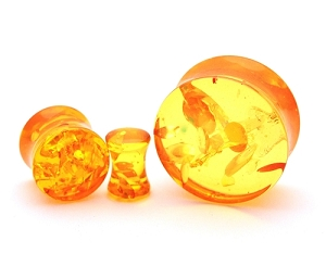 Synthetic Amber Acrylic Plugs
