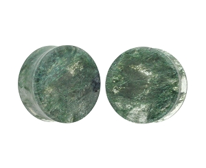Moss Glass Double Flare Plugs