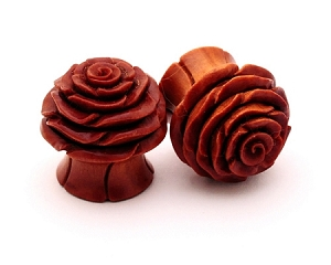 Sawo Wood Rose Flower Plugs