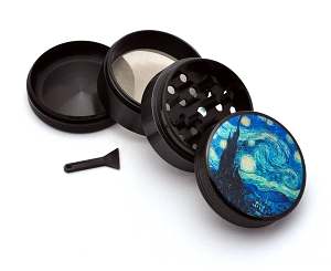 Aluminum Alloy 5-piece Starry Night Picture Grinder