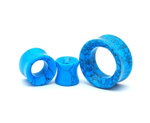 Turquoise Stone Concave Tunnels